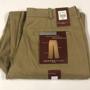 🆕 SONOMA Mens 33x32 Cotton twill Khaki Pants